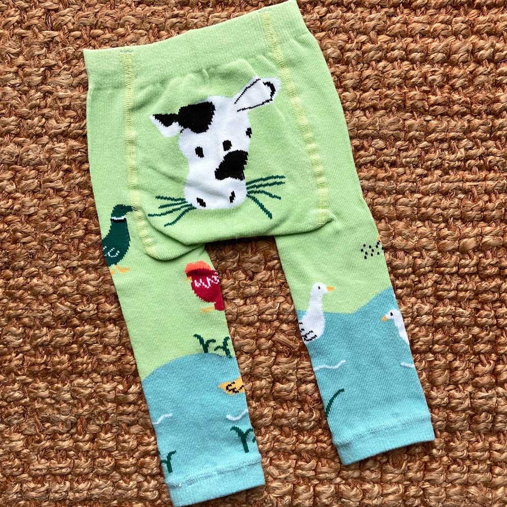 Farmyard Motif Leggings