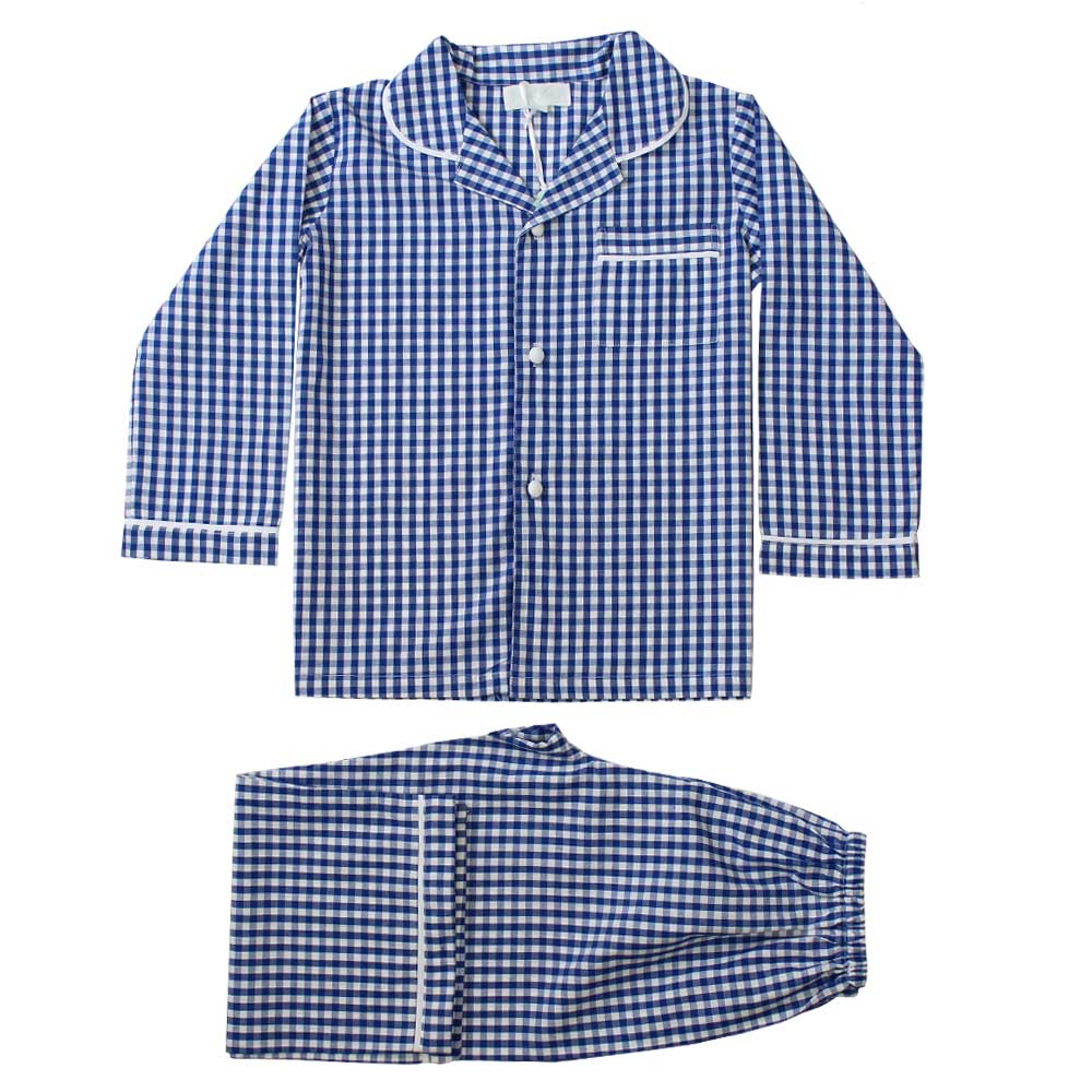 Andrew Blue & White Gingham Boys Pyjamas
