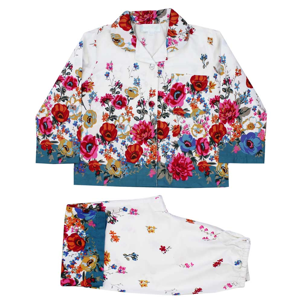 Floral Poppy Long Sleeve Girls Pyjamas