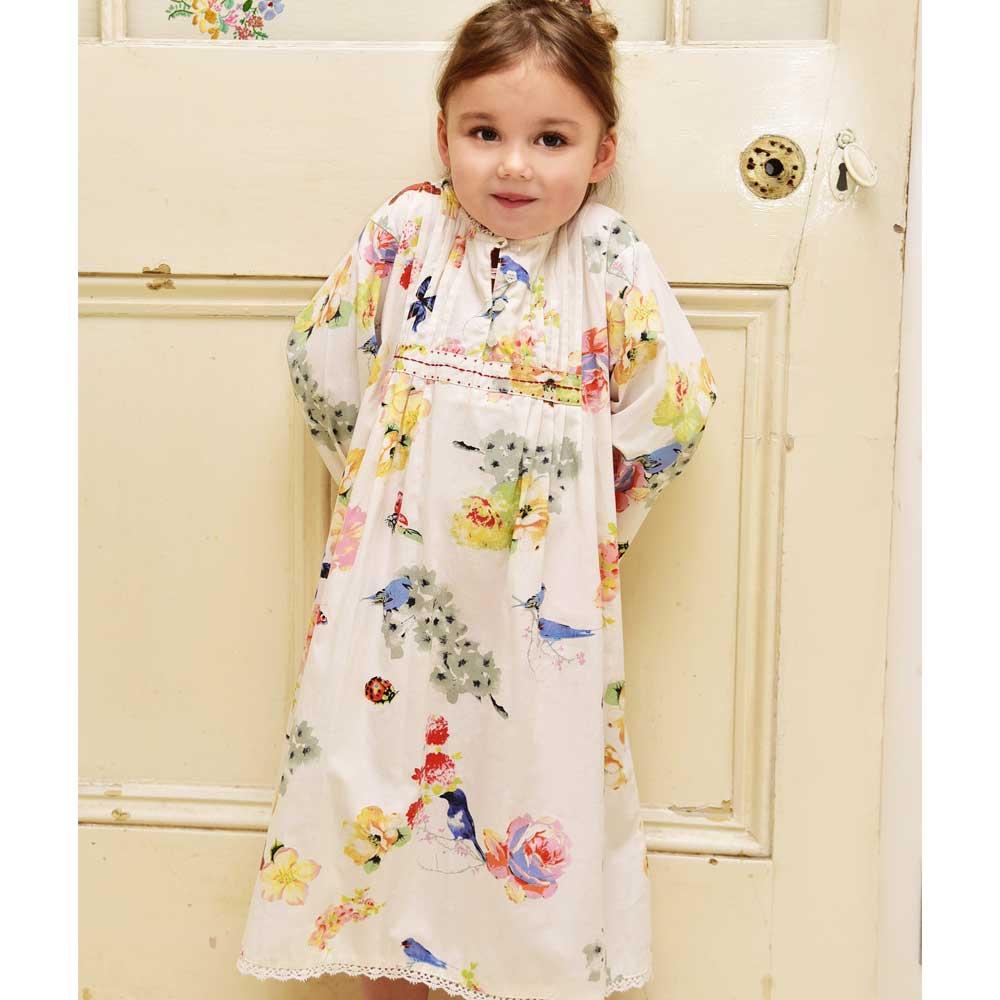 Olive Girls Secret Garden Print Nightdress