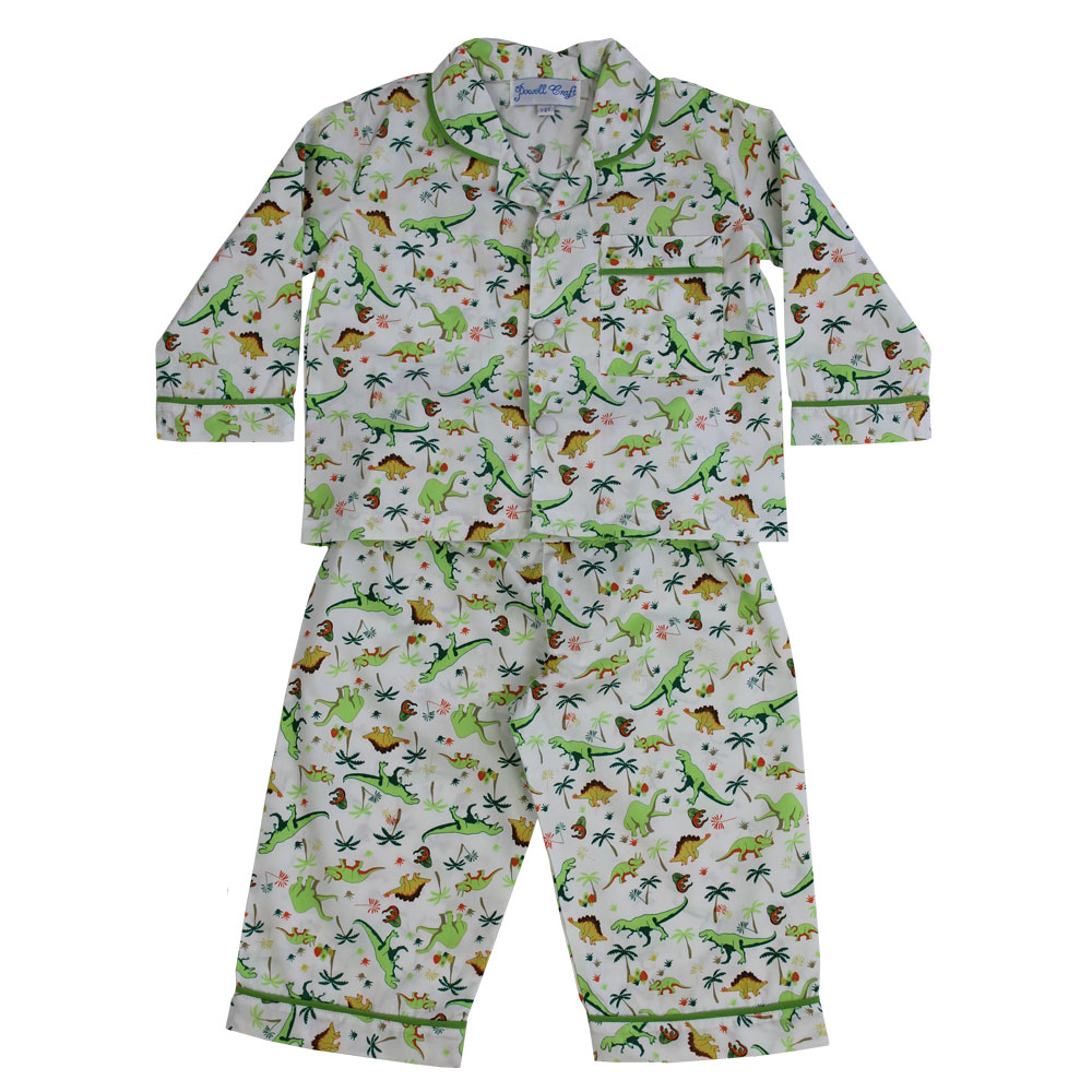 Rex Boys Traditional Dinosaur Print Pyjamas