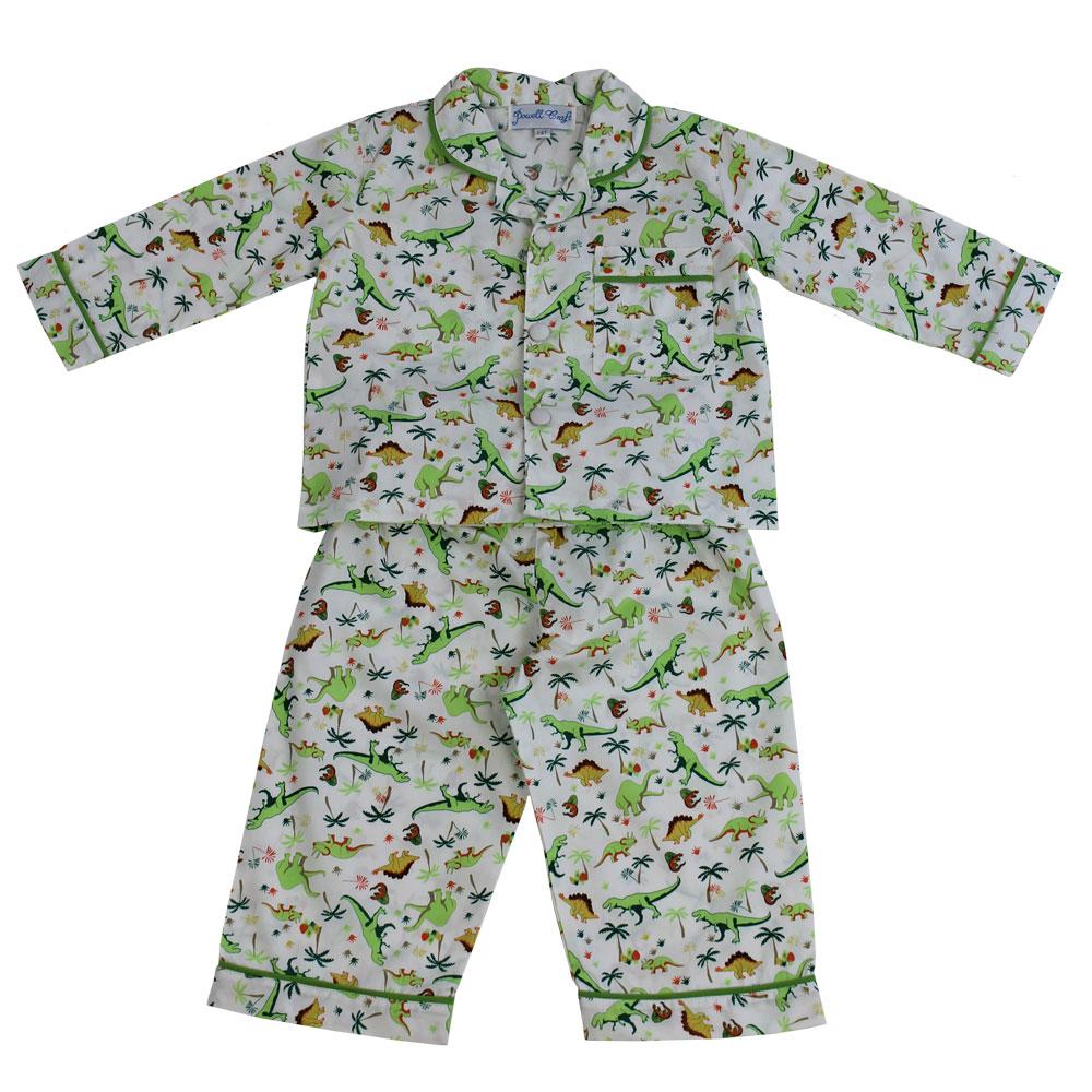 Rex Boys Traditional Dinosaur Print Pyjamas