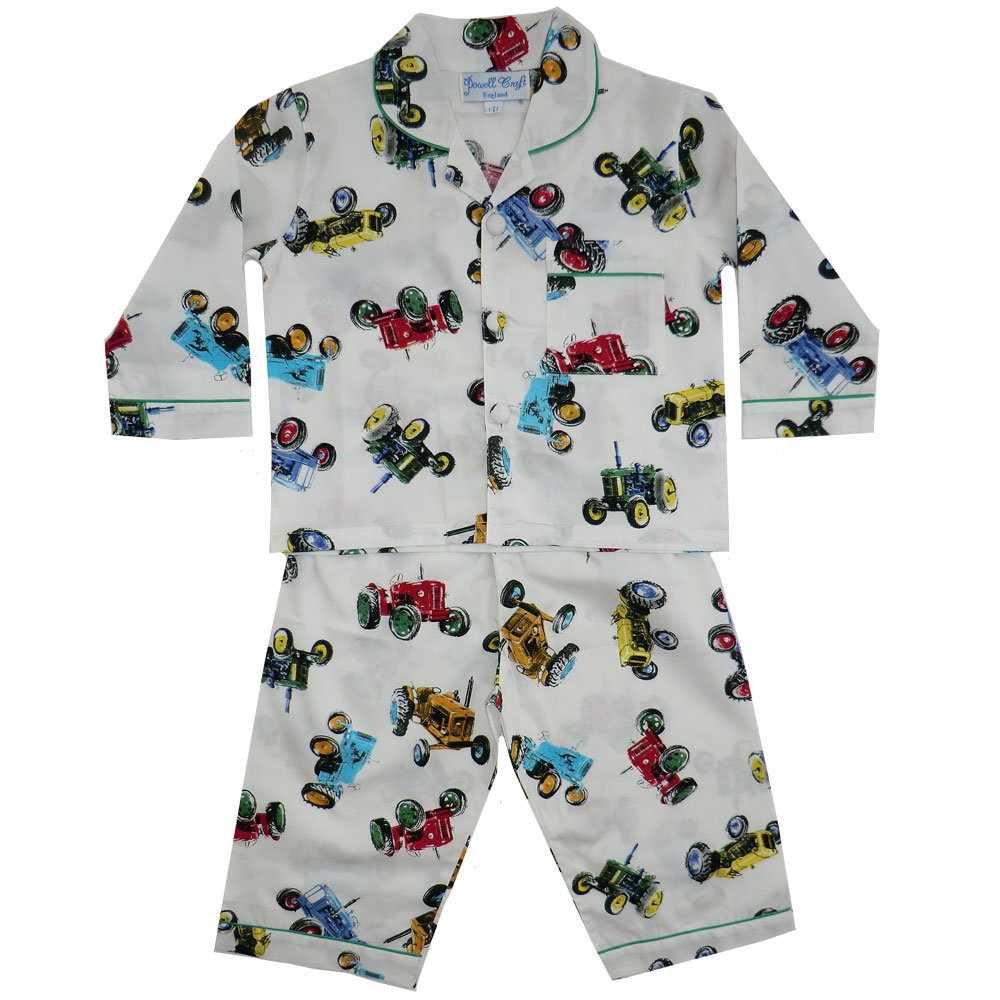 Bertie Boys Traditional Tractor Print Pyjamas