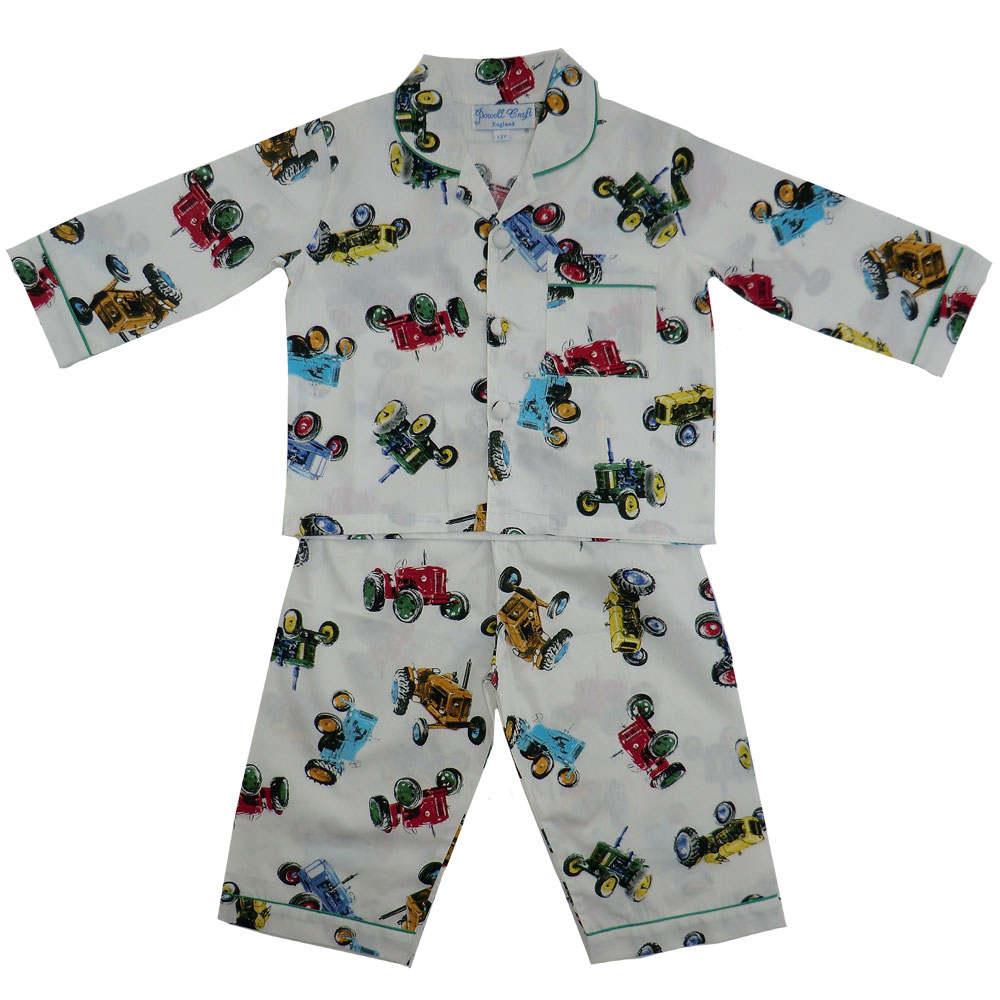 Bertie Boys Traditional Tractor Print Pyjamas