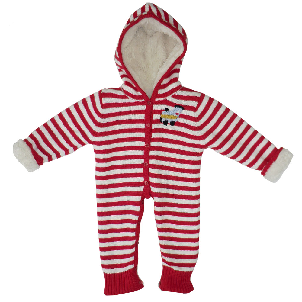 Train Fleece Lined Hooded Jumpsuit